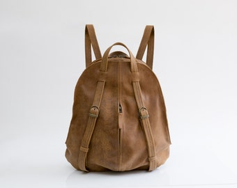 Women Leather Backpack - Leather book bag - Backpack Purse - School backpack - Brown Leather Bag - Fashion Bag