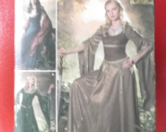 UNCUT and FF Pattern Pieces Andrea Schewe Designed Medieval Costume Sizes 10-12-14-16-18 Vintage Simplicity 4940 Sewing Pattern