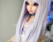 Wig  Service BJD doll MNF size RESERVED pink with bangs