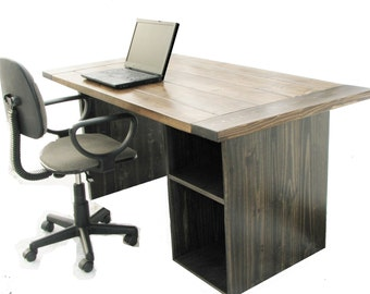 Computer Desk,  FREE SHIPPING, Office Desk, High Quality, Rustic, Modern, Farmhouse
