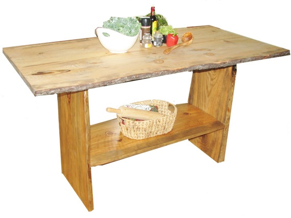 Items similar to kitchen island free sign live edge for Live edge kitchen island