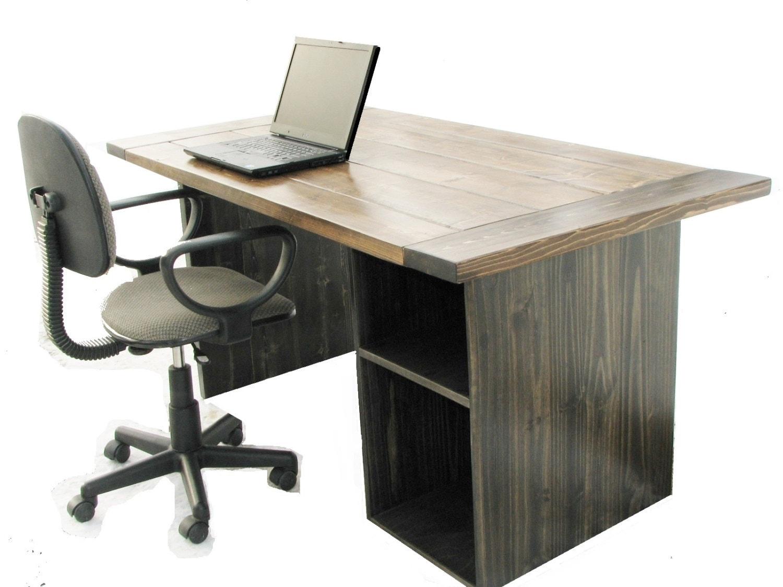 Computer desk farmhouse office desk high quality rustic - Quality office desk ...
