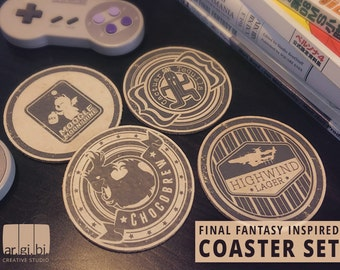Final Fantasy Inspired Coasters