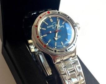 """Diving watch """"Amphibia"""" """"Vostok""""/Soviet watch/  Automatic watch /NOS watch/ Mens watch Mechanical watch vostok komandirskie"""
