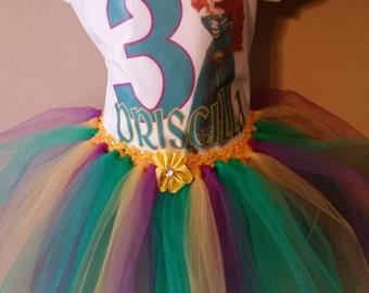 Birthday, Tutu, outfit, Brave, princess, Custom tshert. Any size.