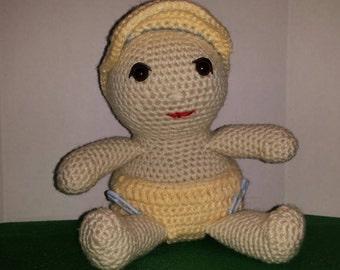 Crocheted Baby Boy Doll
