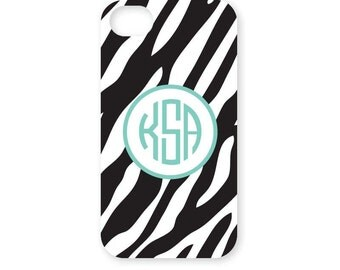 Monogrammed Phone Case - Personalized Phone Case - iPhone 4 - iPhone 4s - iPhone 5 - Samsung Galaxy S3