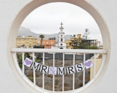FREE SHIPPING, Mr & Mrs banner, Wedding Banner, Reception sign decoration, Engagement party decor, Photo prop, Bachelorette party decor,