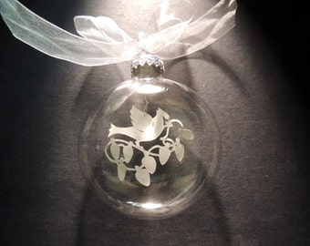 Christmas Ornament, Original Papercutting: Cardinal