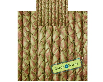 CW04141 - 0.40 meter x 4.00mm Vintage effect  Braided Leather Cord