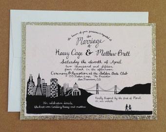 Custom Illustrated Invitation, Black and White