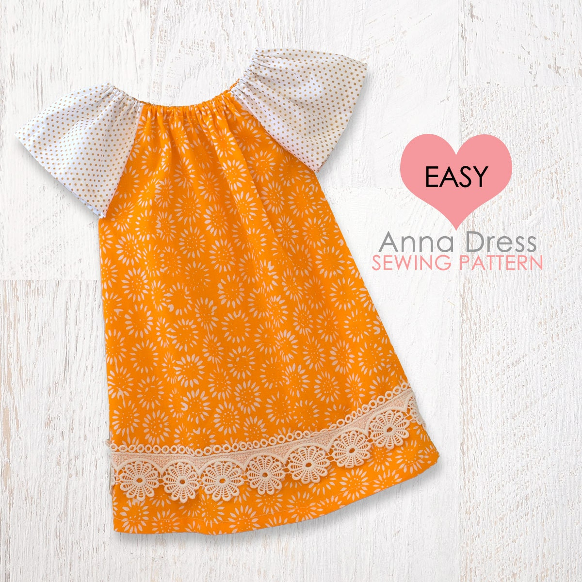 EASY baby dress pattern pdf baby peasant by ...