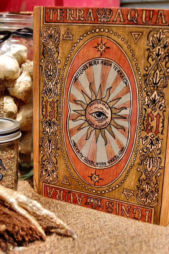 Hand Painted Vintage Inspired Tarot Box Occult Occult Items