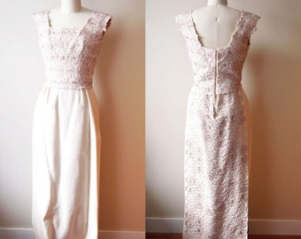 1960s dignitary gown // soft pink // vintage dress