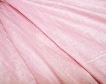 "Baby Pink dupioni silk - 54"" wide"