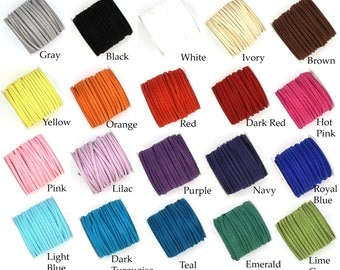 10 Yards Faux Suede Leather Lace Cord 3x1.5mm for Jewelry & Crafts You Choose Color