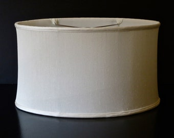 Cream shallow oval lampshade
