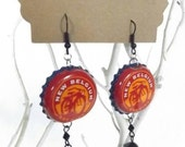 New Belgium Beer Bottle Cap BEERings Found Object Upcycled Beer Jewelry