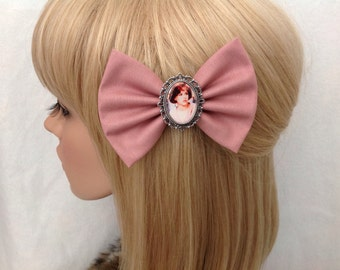 Molly Ringwald The Breakfast Club hair bow clip rockabilly psychobilly vintage retro pretty in pink 80s movie pin up fabric ladies girls