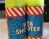 Superhero Party Web Shooter Label Printable .pdf file (for silly string) ~ Superhero Printable Favor