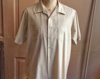 Vintage 1960s XXL Loop Collar S/S Shirt by McGregor. 1048