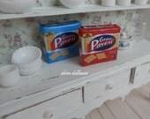 Italian Miniature Food, Box of Crackers, Dollhouse Miniature Handmade, 1:12  Scale Dolls House