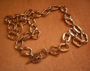 Vintage Omega Gold Tone Chain Belt