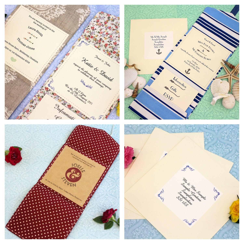 Fabric Pocket Fold Wedding Invitations [E10261624441727544M] - $4.95 ...