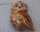 Owl, ceramic owl, pottery owl,owl decor, Philip Laureston