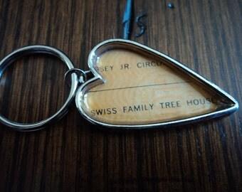 Vintage Disney ticket keychain Disney Swiss family tree house