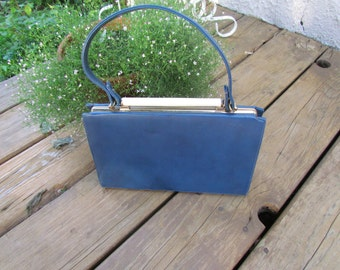 Vintage Blue Purse Hand Bag