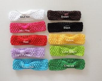 "Crochet Headband 1.5"" (6 qty), Crochet Headbands, wholesale headbands"