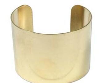 """Metal Brass Bracelet Cuff - Metal Bracelet Cuff-  Flat 2"""" Wide - 1 Each- SGCUFF2"""