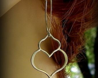 Sterling silver lotus petal earrings, yoga earrings, dangle earrings wedding earrings