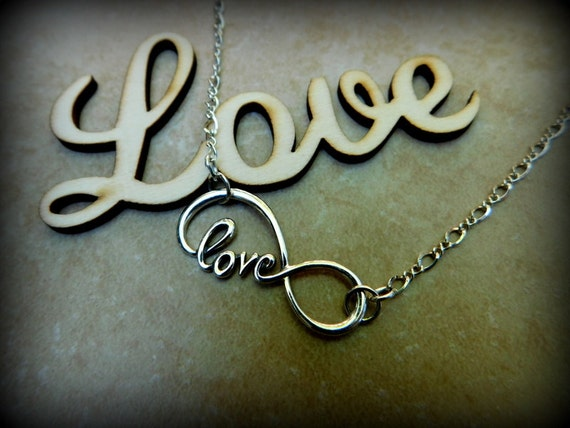 Sterling silver infinity necklace, love necklace, wedding necklace, anniversiary gift, love without limit