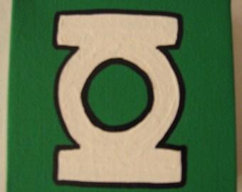 "DC Green Lantern Canvas Picture 4""x4"""