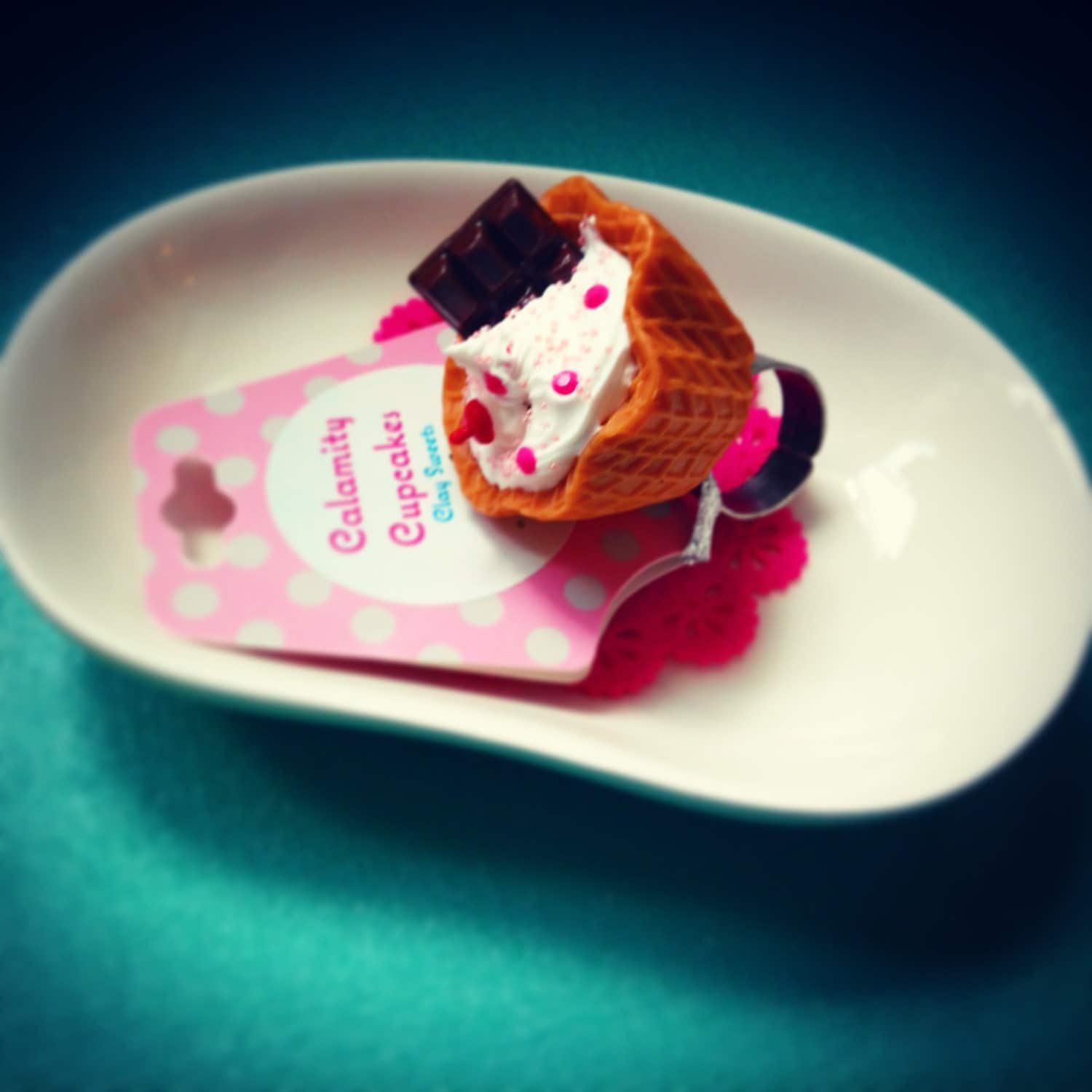 Waffle bowl ice cream sundae rings. by CalamityCupcakes on ...