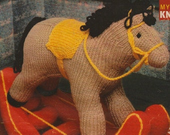 Vintage Rocking Horse Knitting Pattern