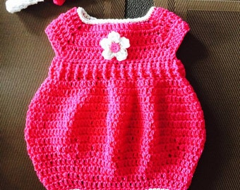 Newborn romper with matching headband