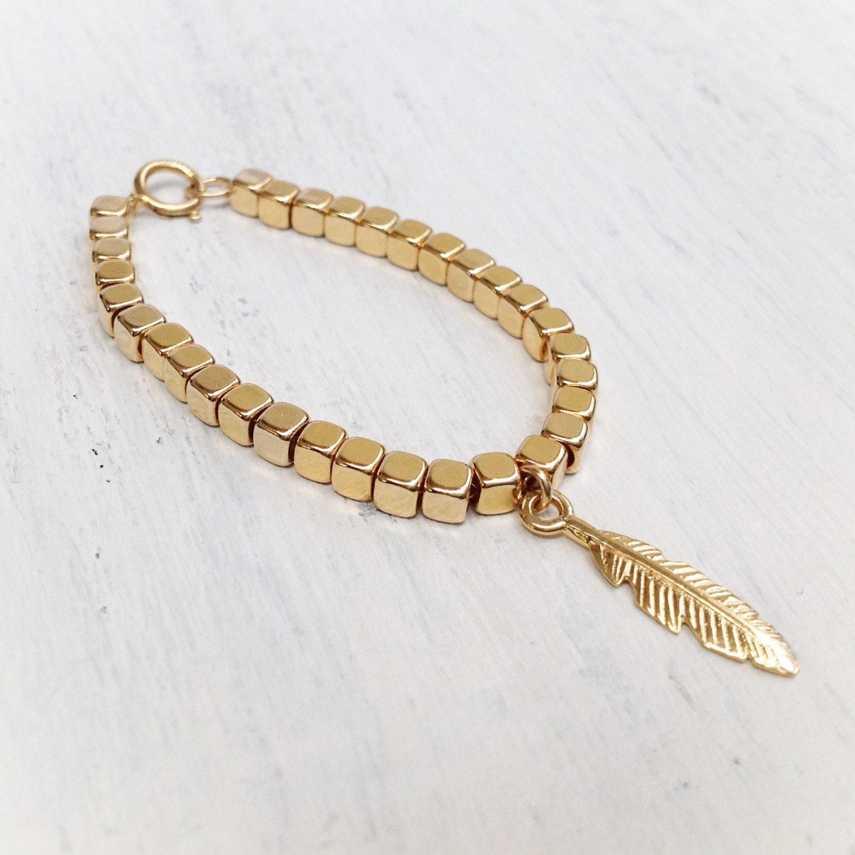 new gold bracelet gold filled feather bracelet feather