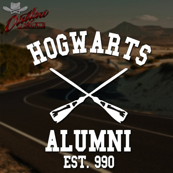 Harry potter inspired hogwarts alumni decal pick by outlawdecals - Hogwarts decal ...