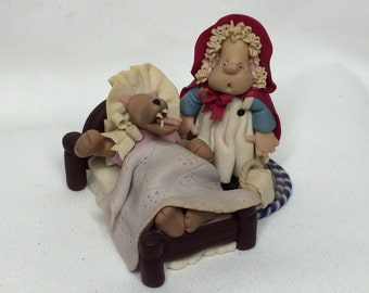 Little Red Riding Hood & the Big Bad Wolf Figurine