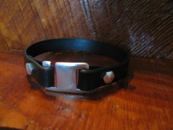 Back In Stock! Men's Black Leather Bracelet-Genuine Italian Leather Wrap Bracelet- Single Wrap