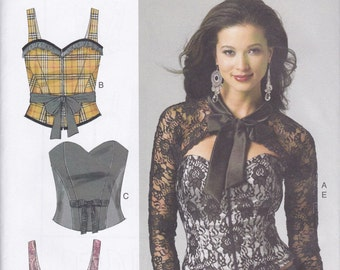 B5797 Butterick Corset, Sash, and Shrug Sewing Pattern Sizes 14-16-18-20-22 Four Styles