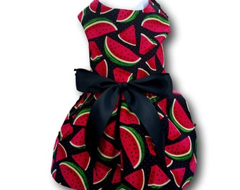 Dog Dress, Dog Clothing, Dog Wedding Dress, Pet Clothing, Dog Attire, Pet Dress - Cute Watermelon Print