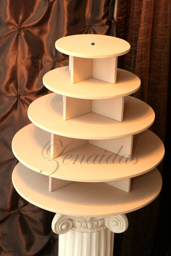 Cupcake stand tier round mdf wood unpainted diy