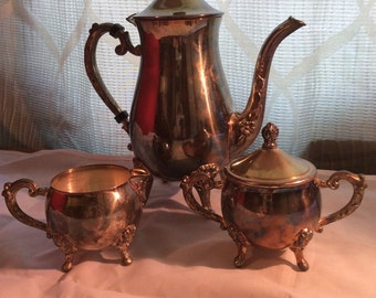Vintage 1960's Sheridan Silver-Plated Tea Set