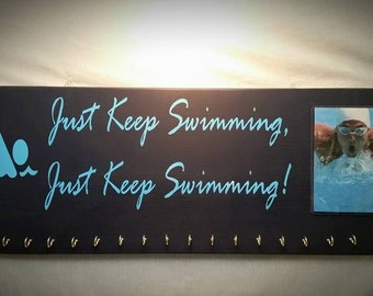 Swim Medal Holders, Medal Holders, Swimmer Plaques, Swimmers, Medals, Swimming Signs, Father's Day Gifts