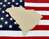 South Carolina Unfinished Wooden State Craft Decorable Shape