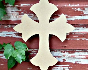 Unfinished MDF Wooden Cross #33